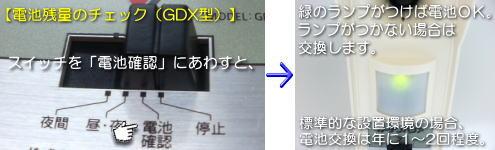 ガーデンバリアGDX据置型の動作確認方法
